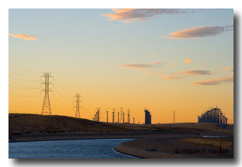 California Aqueduct and Altamont windmills