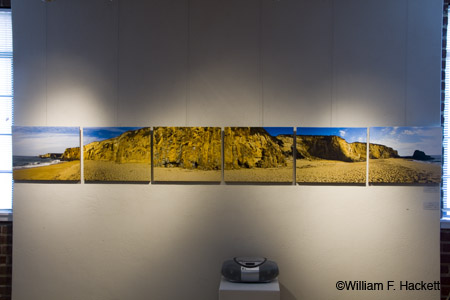 "Endless Beach, 16"" by 120"" panoramic photography on stretched canvas"