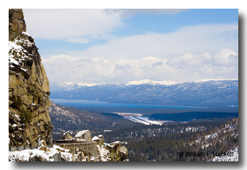 Lake Tahoe from US 50 at Echo Summit