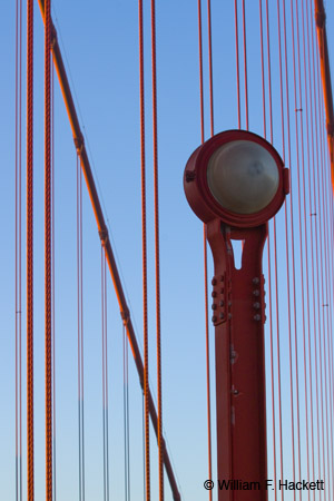 On the Golden Gate Bridge, San Francisco, California