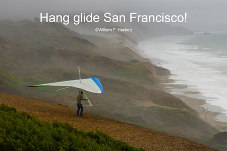 Hang glider, Fort Funston, San Francisco, California