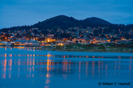 Morro Bay, California, After Dark