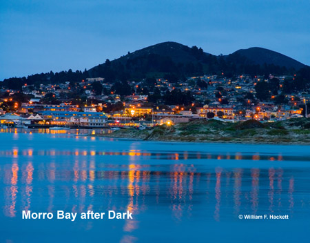 Morro Bay After Dark, Morro Bay, California