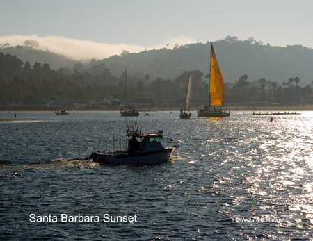 Santa Barbara Harbor Sunset, California
