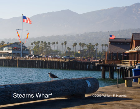 Stearns Wharf view, Santa Barbara, California
