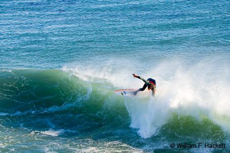 Surfing at Steamer Lane