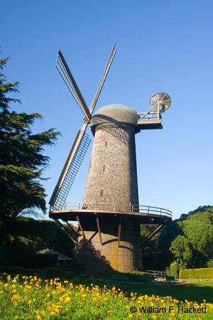 Queen Wilhelmina Windmill in Golden Gate Park