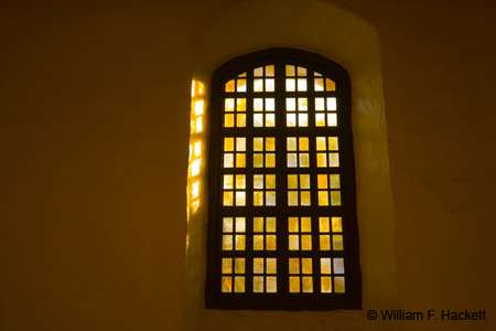 Mission San Francisco de Asís stained glass window