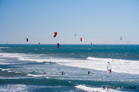 Kiteboarding and Windsurfing near Waddell Beach