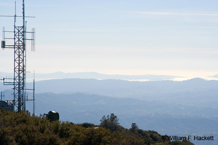 Mount Diablo Summit View West toward Golden Gate