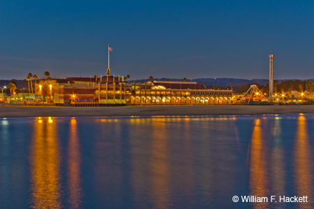 Santa Cruz Casino Beach Boardwalk by night